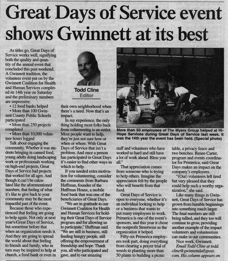 GDOS in the Gwinnett Daily Post