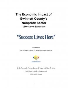 Economic Impact - Executive Report Cover