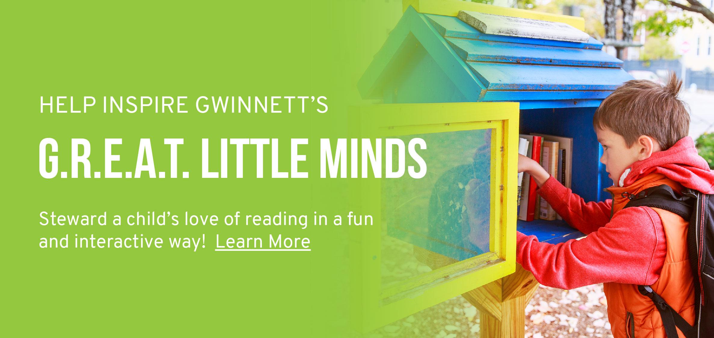 Help Inspire Gwinnett's G.R.E.A.T. Little Minds