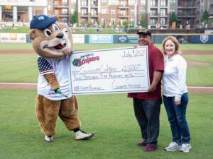 Gwinnett Stripers Present a Grant Check to VRC