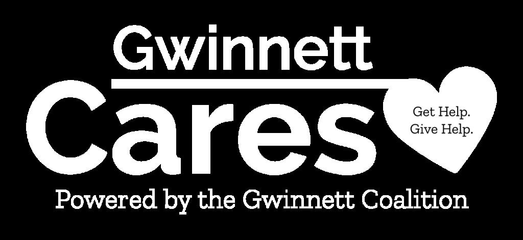 Gwinnett Cares - Logo White